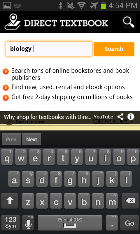 Direct Textbook Price Search - screenshot