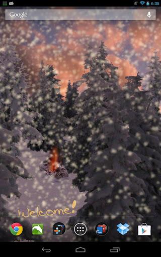 冬季降雪量動態壁紙