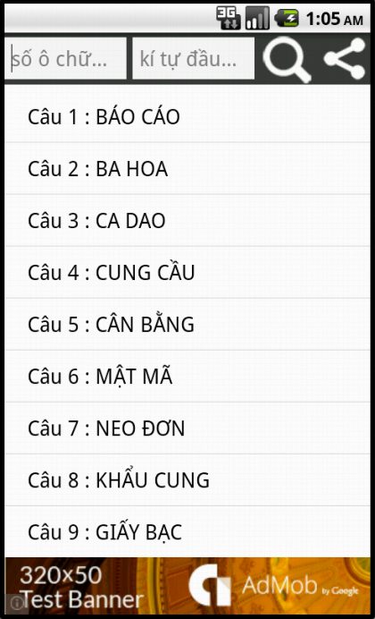 2380 Cau - Dap An Bat Chu 2016- screenshot