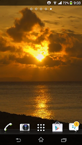 Ocean Sunset HD Live Wallpaper screenshot 1