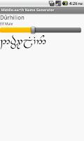 Screenshot of Middle-earth Name Generator
