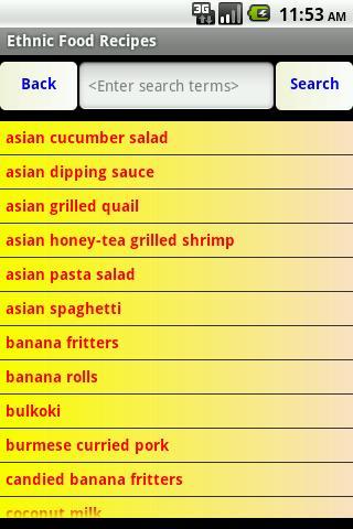 Ethnic Food Recipes- screenshot