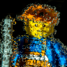 Bubble Lego 2 by Fahad Iqbal - Artistic Objects Toys ( liquid, creative, toy, artistic, sparkle, refraction, lego, object,  )