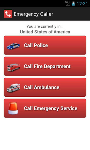 搜尋android emergency call list