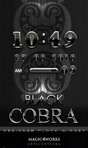 Cobra Digital Clock Widget