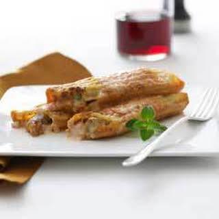 Pork Mascarpone Manicotti.