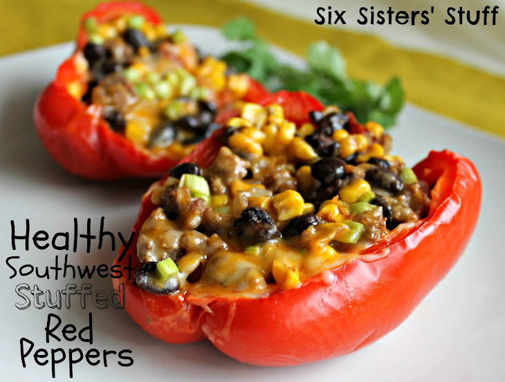 Healthy Southwest Stuffed Red Peppers Recipe