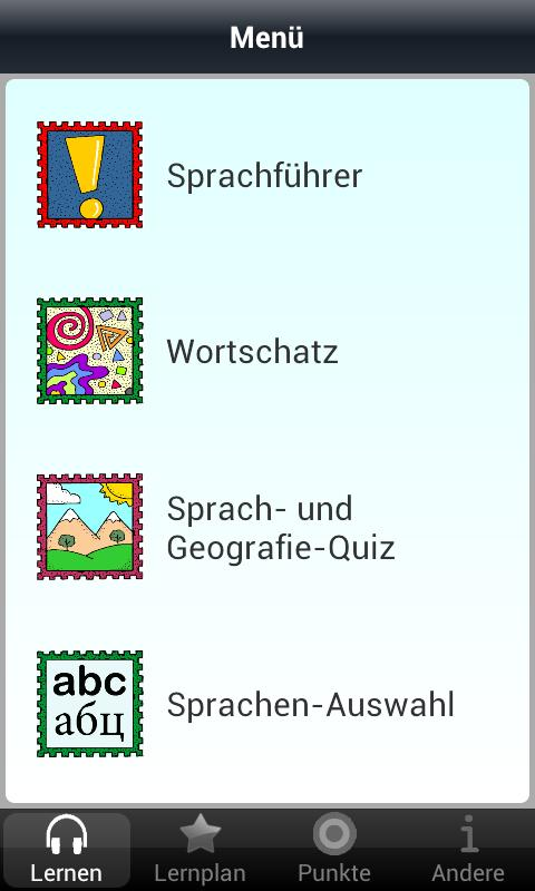 German 50 languages - screenshot