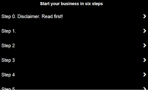 Business in 6 steps