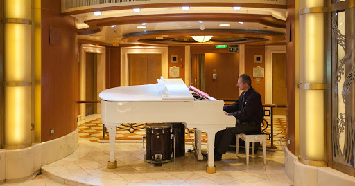 Star-Princess-pianist - A pianist performs during a cruise on Star Princess.