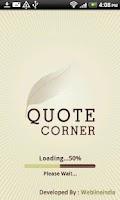 Screenshot of Quote Corner