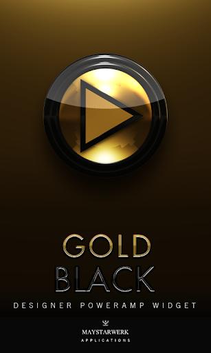 Poweramp Widget Gold Black