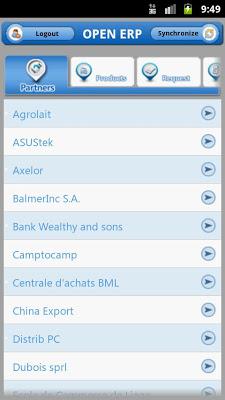 Open ERP Mobile - screenshot