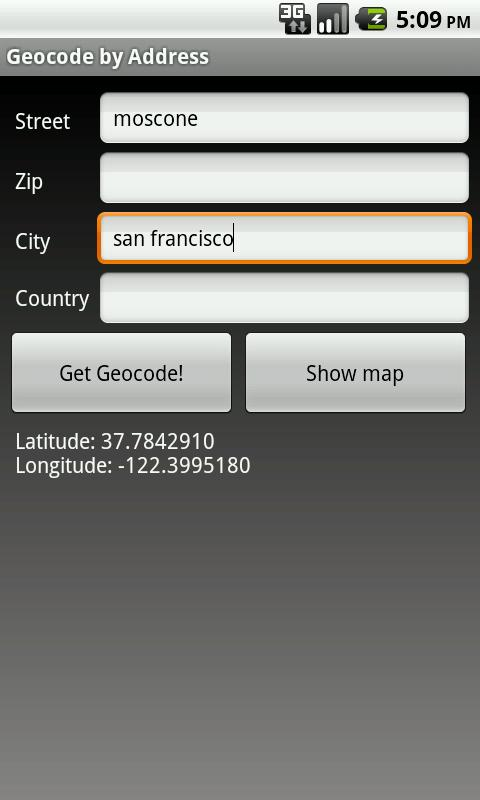 Geocode by Address- screenshot