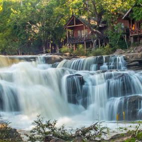 Tadlo Falls by Jen Thiele - Novices Only Landscapes ( tadlo, laos, waterfall )