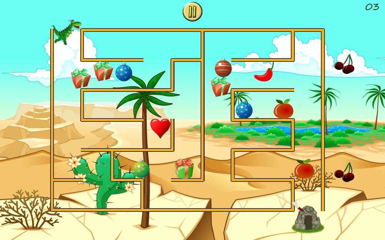 dino maze mazes for kids screenshot - Images For Kids