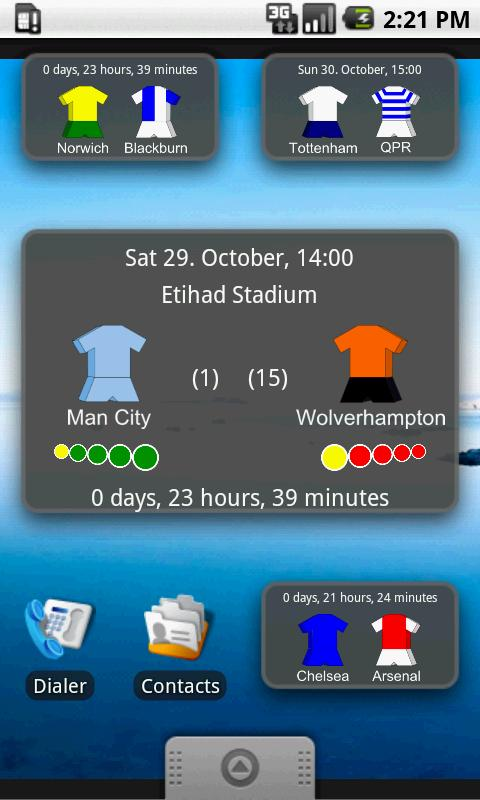 Next Premier League Match- screenshot