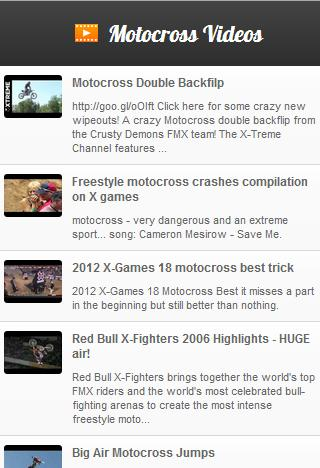 Motocross Videos - screenshot