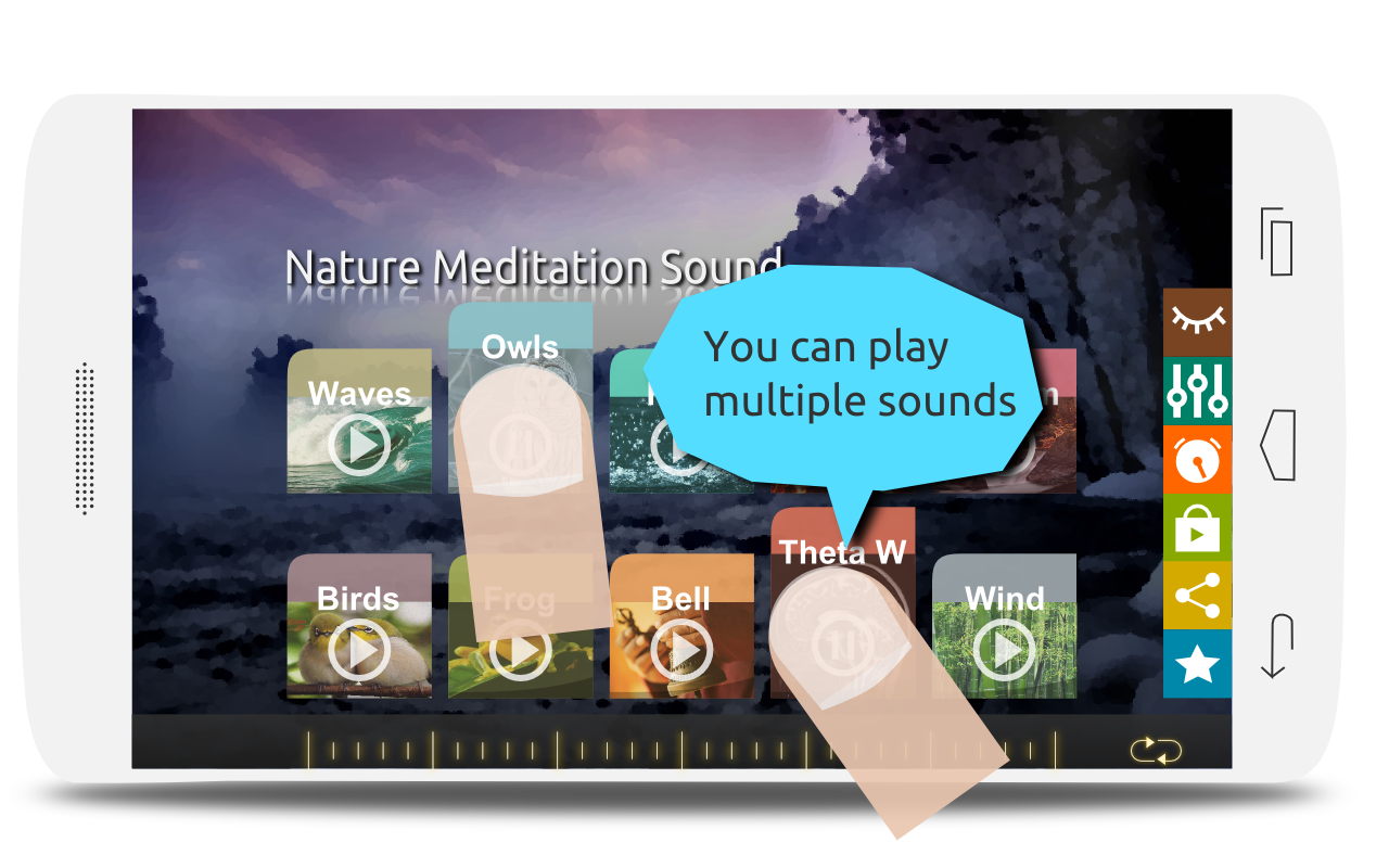 Screenshots of Nature meditation sound for iPhone