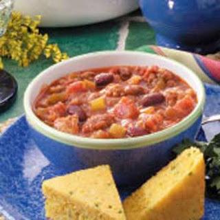 Southwestern Three-Meat Chili.