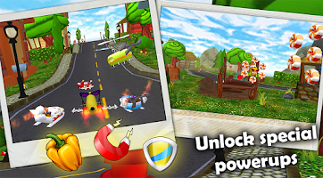 Screenshot of Fast Food 3D Racing