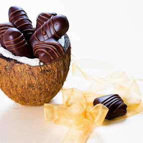 Bounty by Dejan Stanic - Food & Drink Candy & Dessert ( sweets, coconut, chocolate candy, delicious, homemade, chocolate bar, tasty, bounty, candy, dark chocolate, food, coconut filling, milky, treat, dessert, , sweet )