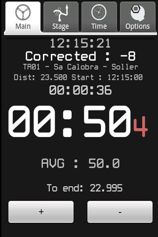 RallyMeter Historic rally tool- screenshot