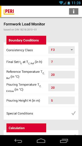 PERI Formwork Load Calculator