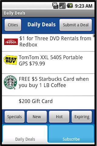 Daily Deals (FREE)- screenshot