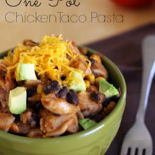 Gluten-Free One-Pot Chicken Taco Pasta.