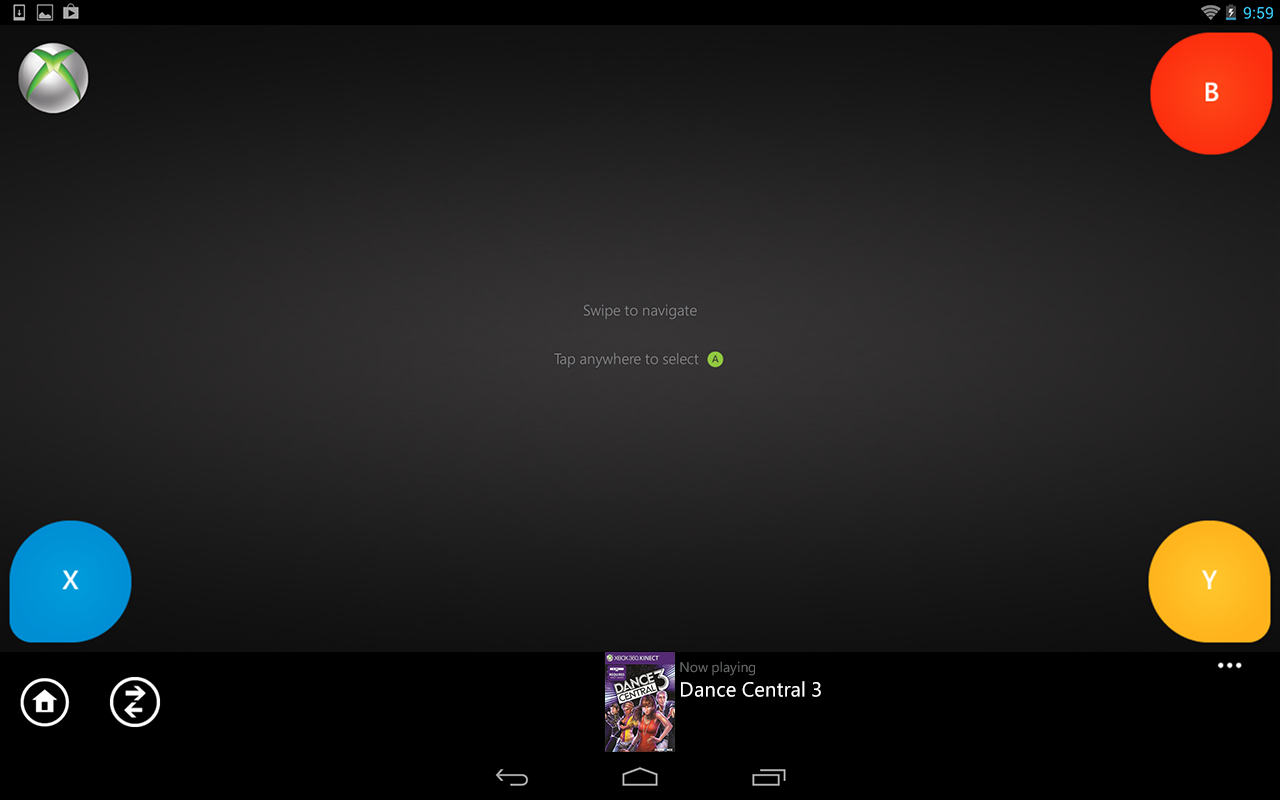 Xbox 360 SmartGlass: captura de tela