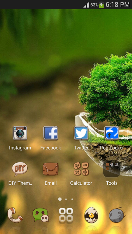 Green Nature Comic theme - for Android HD theme- screenshot