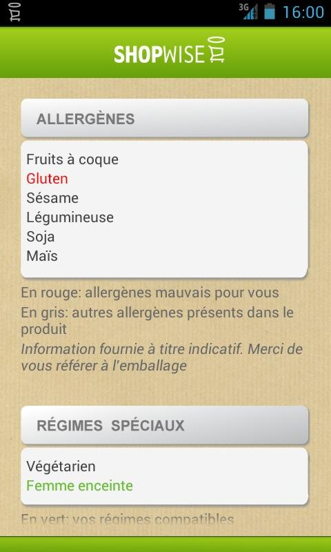 SHOPWISE manger mieux- screenshot