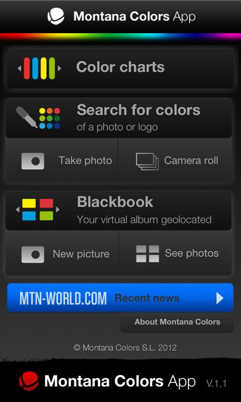 Montana Colors App - screenshot