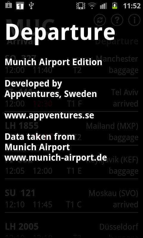 Departure MUC - screenshot