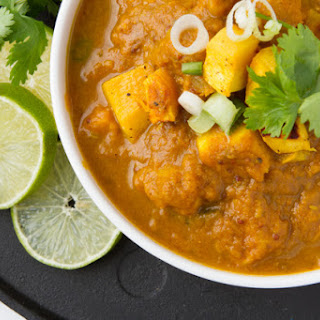 Spicy Speckled Pumpkin Curry.