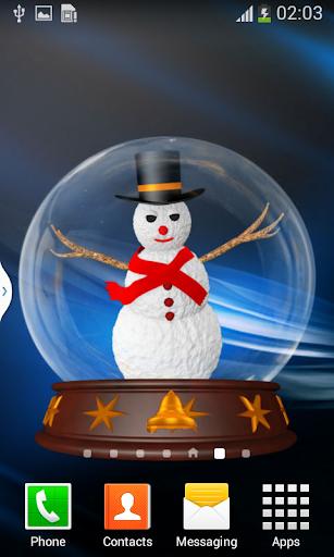 Snowmen 3D Globe