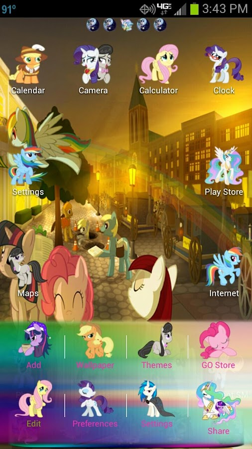 MLP: FIM GO Launcher EX Theme - screenshot