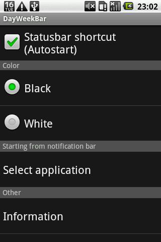 DayWeekBar English- screenshot