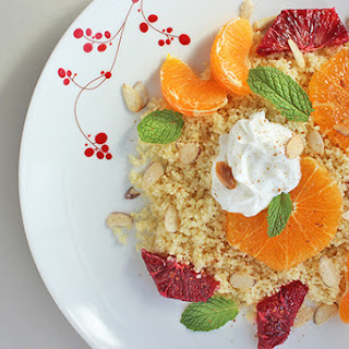 Couscous with Citrus, Yogurt, and Almonds.