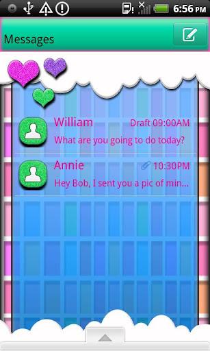 GO SMS THEME FrutiHearts