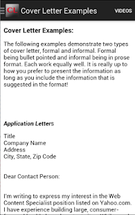 informal cover letter examples