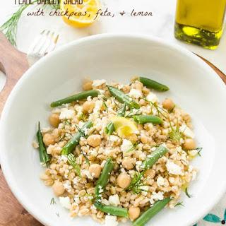 Pearl Barley Salad with Chickpeas, Feta, and Lemon.