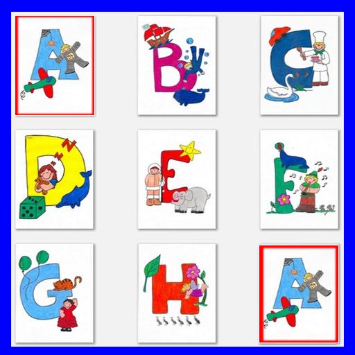 字母記憶遊戲為孩子ABCD