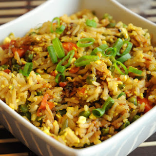 Best Ever Vegan Fried Rice with Scrambled Tofu
