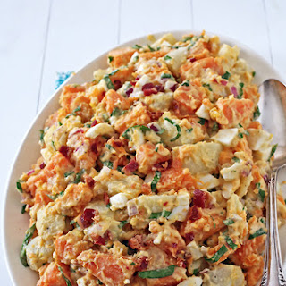 Russet and Sweet Potato Salad w/ Bacon