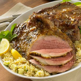 Grilled Leg of Lamb with Spicy Citrus Glaze.