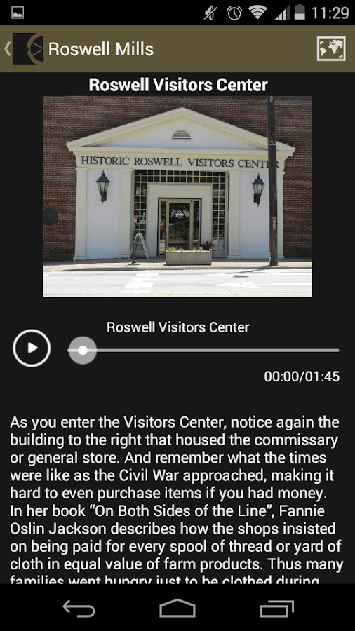 Roswell Mills & Civil War Tour- screenshot