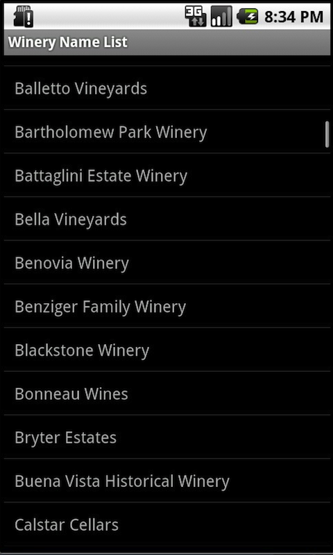 Sonoma County Winery Finder- screenshot