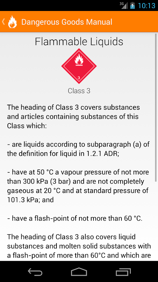 Dangerous Goods Manual- screenshot